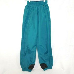 VTG 90s Columbia Womens S Teal  Nylon Shell Pant